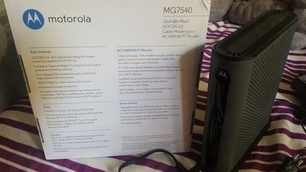 Wireless Router & Modem combo Motorola MG7540