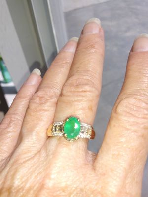 14KT Yellow Gold, AAA PREMIUM EMERALD Sz 7 ring. Pick up gatlin and psl blvd or you home for Sale in Port St. Lucie, FL