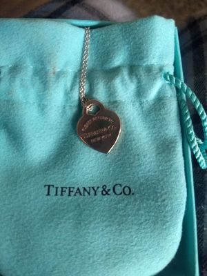 Tiffany's Rose Gold Pendant with Silver Chain for Sale in Pflugerville, TX