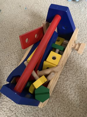 wooden toy tools and train for kids for Sale in Bethesda, MD