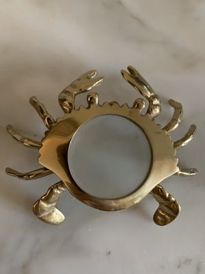 "Vintage brass CRAB SHAPED MAGNIFYING GLASS, excellent condition, approx 5"" x 4"" for Sale in Hobe Sound, FL"