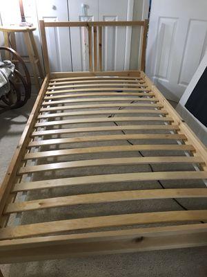 IKEA twin bed frame, pine birch for Sale in Alexandria, VA