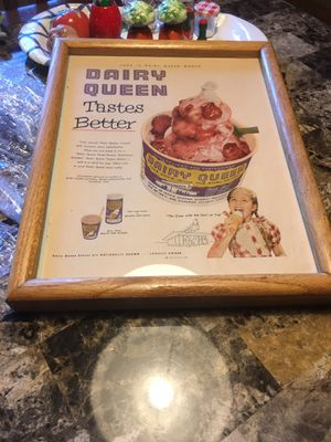 Vintage Dairy Queen advertisement poster for Sale in Payson, AZ