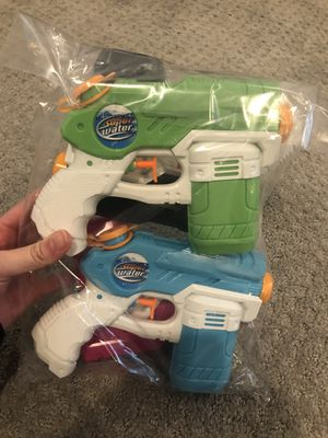 Brand new 4 Pack WaterGun for Kids Soaker Squirt Games Easy to Catch, Long Range, Water Pistol Toy for birthday Party backyard game summer for Sale in Arlington, VA