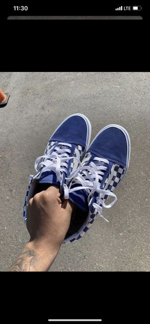 Vans Blue Checkerboard, Size 11 for Sale in Philadelphia, PA