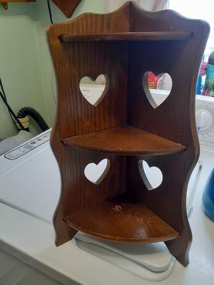 Corner wood shelf for Sale in Croydon, PA