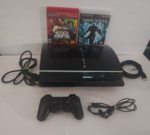 Sony Playstation PS3 Fat 80GB Bundle Backwards Compatible - New Thermal Paste - Tested for Sale in Palm Bay, FL