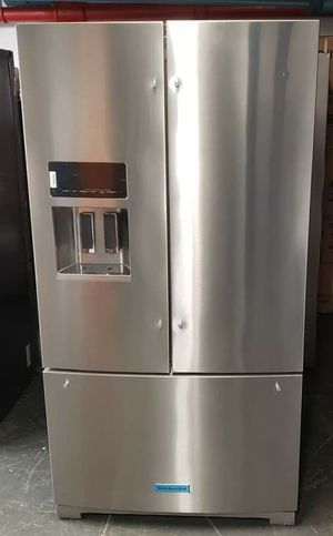 "KitchenAid 26.8 cu ft / 36"" Width Standard Depth French Door Refrigerator - Model: KRFF707ESS01 for Sale in Yonkers, NY"