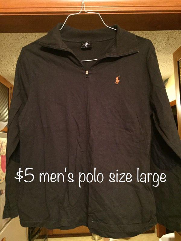 Men's polo size large