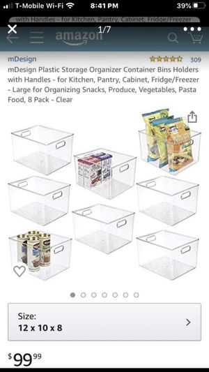 mDesign Plastic Storage Organizer Container Bins for Sale in National City, CA