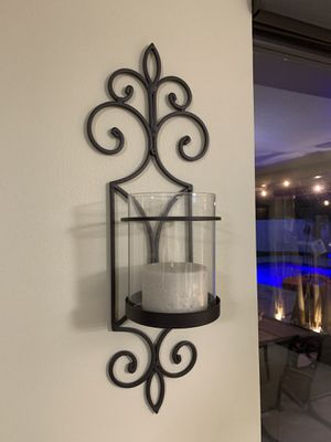 """2 pcs, wall sconce candle holder 30.5"""" 38"""" 46x 5dia for Sale in Pembroke Pines, FL"""