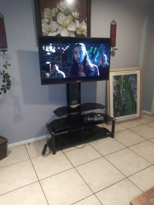 50 inch pixel T.V. n good working condition comes with tv stand and remote for Sale in Riverside, CA