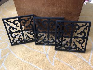 Set of 3 metal wall decor. for Sale in Upland, CA