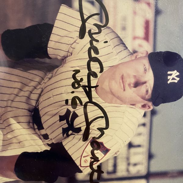 Authentic No 6 Mickey Mantle Signed Photograph.