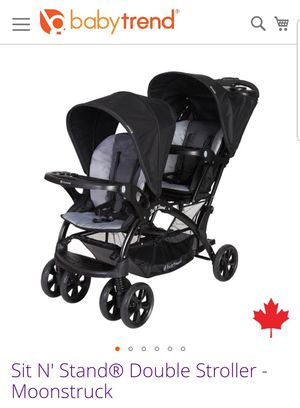 Babytrend sit and stand double stroller for Sale in Tacoma, WA