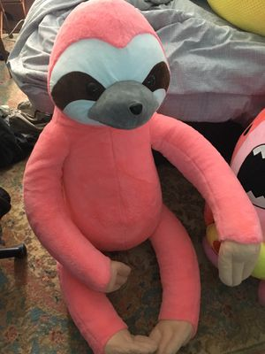 Giant stuffed animal pink sloth for Sale in Richmond, VA