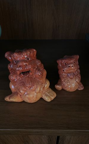 2 pier one dragon figurines nick nacks for Sale in Ashburn, VA