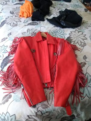 Red fringe biker jacket for Sale in Oakland, CA