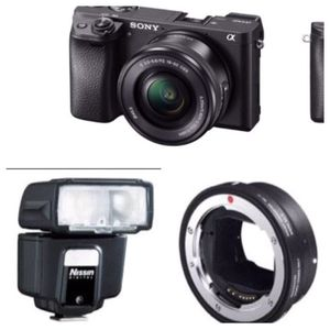 Sony digital camera with flash and lenses for Sale in Webster Groves, MO