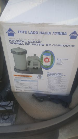 Above Ground Pool Pump System-Used Good/Working Condition; Pump/ Filter /Heater, and box of 4 Replacement Filters for Sale in Stockton, CA