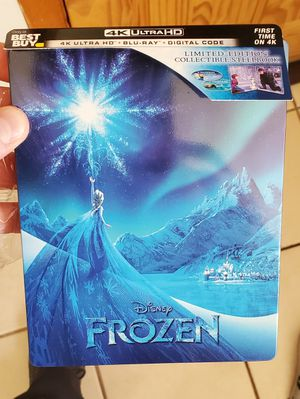 Frozen 4K Steel Book with 4K Blu Ray, BluRay & Digital Copy for Sale in Chicago, IL