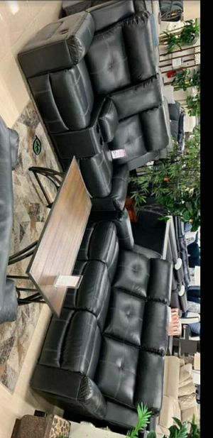 ☑ Special for Black Friday ‼ Kempten Black LED Reclining Loveseat 19 for Sale in Jessup, MD