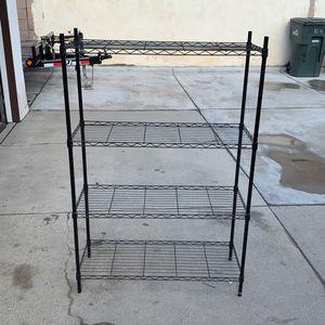 Metal 4Shelf Shelving Rack Adjustable for Sale in Chino, CA