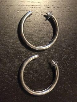 Silver Hoops, Pierced Ears for Sale in Kent,  WA