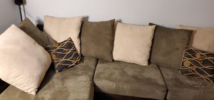 Custom Microsuede Sectional Sofa for Sale in Mountain View, CA