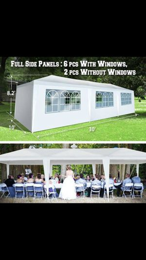 NEW in box 10x30 Tent with 8 removable windows/walls. Party Wedding Outdoor Patio Canopy Gazebo for Sale in Arlington, VA