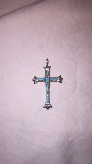 Zuni sterling silver turquoise cross for Sale in Alexandria, VA