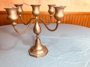 Brass candelabra, holds 5 candlestick tapers for Sale in Fairview, TN