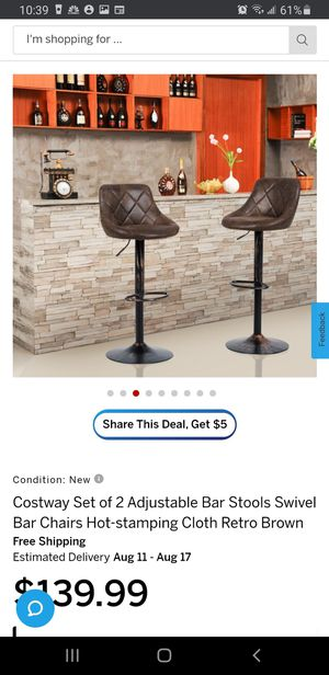 New 2 Pc Bar Stool Chair's for Sale in Riverside, CA
