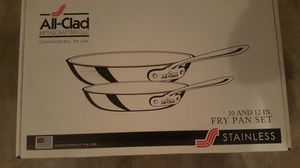 "ALL CLAD D3 Stainless Steel (10"" and 12"" fry pan set) for Sale in Portland, OR"