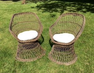 Two Rattan wicker chairs for Sale in Troutdale, OR