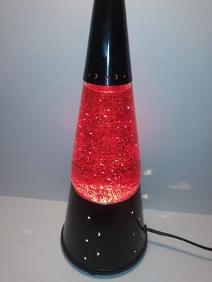 Lava Lite Wizard Red Glitter Lamp Moon and Star Base Motion Glitter Lamp for Sale in Dewey, AZ
