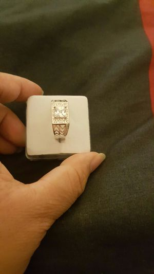 Real 925 sterling silver white sapphire wedding ring size 11 for Sale in Riverside, CA