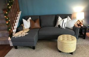 Jarreau Gray Sofa Chaise Sleeper for Sale in Jessup, MD