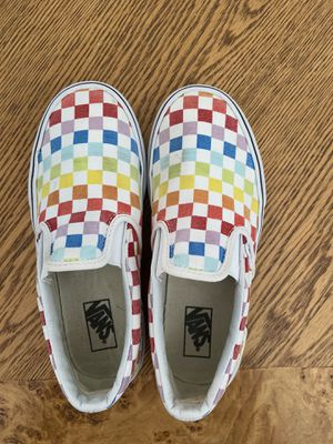 Rainbow Checkered Vans for Sale in Addison, IL
