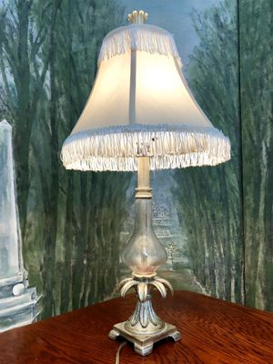 """Tarnished Silver Tropical Palm Table Lamp Height 27"""" for Sale in Boynton Beach, FL"""