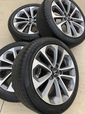 Rims and tires 18x8 5x114.3 fit honda acord sport civic element crv odisey for Sale in Santa Ana, CA