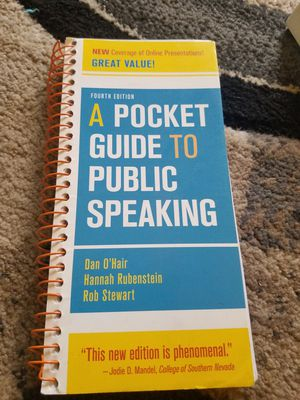 A Pocket Guide to Public Speaking book for Sale in Denver, CO
