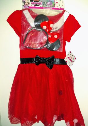 New Minnie Mouse Dress Up Dress and Headband - Toddler Girls Size: 5T for Sale in Smithville, TN