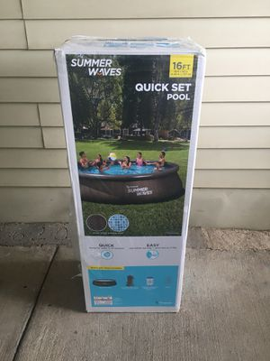 "Brand New summer Waves quick set pool 16'x42"" for Sale in Dallas, TX"