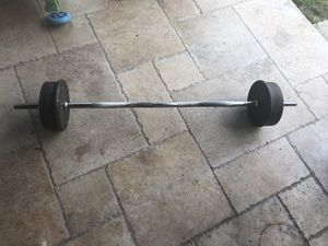 Weights with curl for Sale in Cypress, CA
