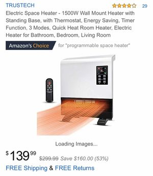 1500w wall mount heater for Sale in Bowie, MD