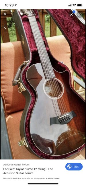 Taylor 562 Ce 12 string grand concert for Sale in Spring Valley, CA