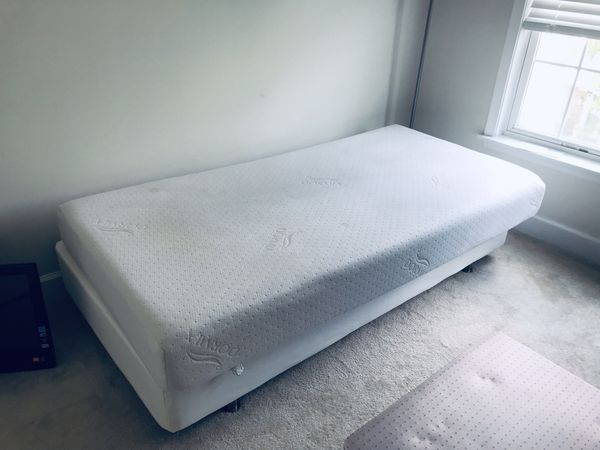 IKEA sultan ARAM twin mattress frame and DORMIA twin mattress +cover