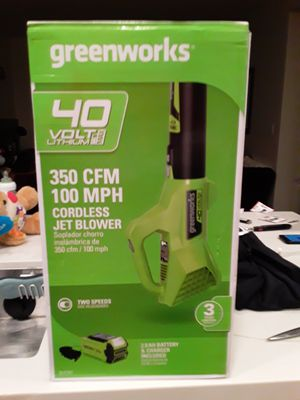 GREENWORKS CORDLESS LEAF BLOWER! for Sale in Sunnyvale, CA