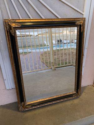 Black & Gold Mirror, Antique Vintage for Sale in West Covina, CA